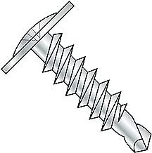 Steel Self-Drilling Screw, Zinc Plated Finish, Modified Truss Head, Phillips Drive, #2 Drill Point, #8-18 Thread Size, 1-1/4