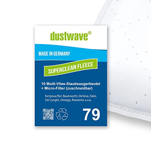 Sparpack - 10 Staubsaugerbeutel geeignet für De'Longhi - Darel XTC 15 ET Bodenstaubsauger von dustwave® Markenstaubbeutel Made in Germany + inkl. Micro-Filter