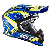 KYT casco Strike Eagle Reef Blue/Amarillo flúor–L