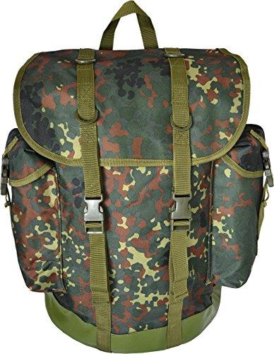 normani Jäger-Rucksack mit wasserdichtem Bodenteil, Farbe Flecktarn
