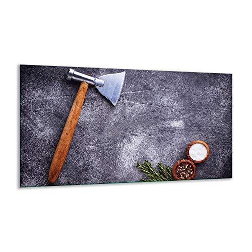 Fornuis afdekplaat keramische plaat specerijen grijs 1-delig 90x52 kookplaten inductie