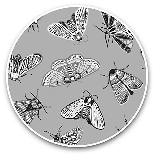 Impresionante pegatinas de vinilo (juego de 2) 10 cm (bw) – Divertidas pegatinas de mariposas para portátiles, tabletas, equipaje, reserva de chatarras, neveras, regalo genial #38962.