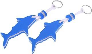 VORCOOL 2Pcs Safety EVA Dolphin and Anchor Floating Keyring Water Buoyant Keychain for Kayak Canoe Marine Nautical Boating Swim Beach Outdoor Sport