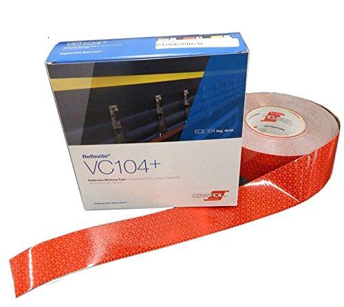 Reflexite 50m x 50mm Konturmarkierung VC104+ ROT Markierungsband Orafol Oralite