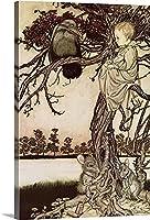 油絵 数字キットによる絵画 塗り絵 大人 手塗り DIY絵 デジタル油絵 ホーム オフィス装飾 - Talking to the Crow from Peter Pan in Kensington Gardens by J.M. Barrie (50X40cm,Unframed)