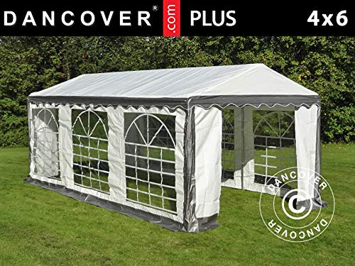 Dancover Partytent PLUS 4x6m PE, Grijs/Wit