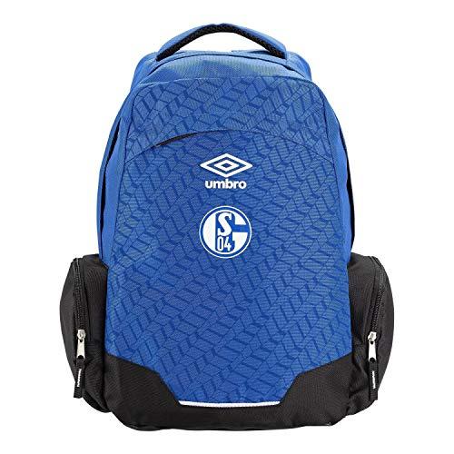FC Schalke 04 Rucksack - blau - Sportrucksack, Backpack S04 - Plus Lesezeichen I Love Gelsenkirchen