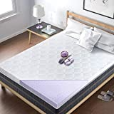 BedStory Memory Foam Mattress Topper Twin, 2 Inch Lavender Infused Foam Bed Topper with Microfiber Fitted Cover, High-Density Memory Foam Mattress Pad with CertiPUR-US & Ventilated Design