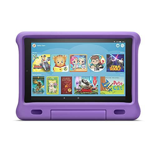 """Fire HD 10 Kids Edition Tablet – 10.1"""" 1080p full HD display, 32 GB, Purple Kid-Proof Case"""