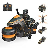 Rc Motorcycle with Rechargeable Batteries, 360° rotatable Drift Remote Control Motorcycles, 2WD Rc Motorbike 2.4Ghz High Speed Wireless Remote Racing Motorcyle for 4-12 Age Kids