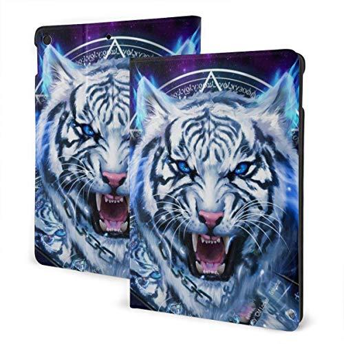 ZSMJ Ipad case White Tiger Blue Eye Purple Starry Sky Slim Lightweight Smart Shell Stand Cover Case forair 1/2 (9.7inch)
