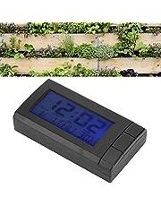 Z cyfrowym termometrem z wyświetlaczem daty, termometrem zewnętrznym, małym przenośnym do domowego ogrodu