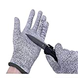 Cut Resistant Gloves,Knife Cut Proof Gloves Cut Proof Resistant Gloves Level 5 Protection