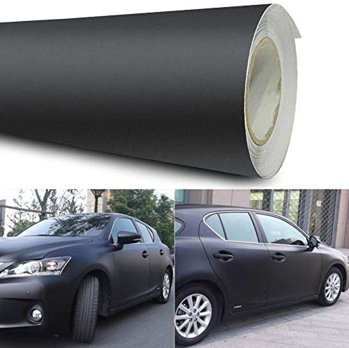12x60 Matte Black Vinyl Film Wrap Car DIY Sticker Vehicle Decal 3D Black product image
