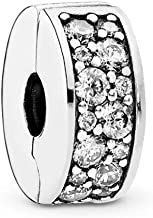 PANDORA Shining Elegance Clip Charm, Sterling Silver, Clear Cubic Zirconia, One Size