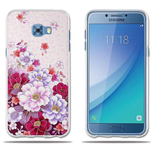 Fundas Carcasas para Samsung Galaxy C5 Pro, Gel de Silicona TPU Carcasas- FUBAODA- Flores en Profusión, Carcasa Protectora de Goma de Calidad Superior para Samsung Galaxy C5 Pro (5.2')