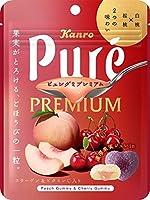 カンロ ピュレグミプレミアム白桃&桜桃 63g ×6袋