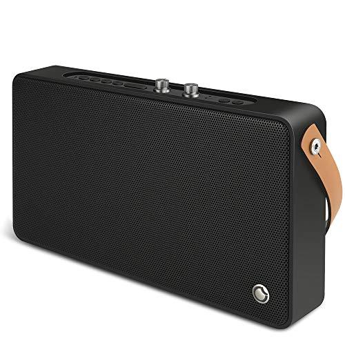 GGMM E5 Enceinte Bluetooth WiFi sans Fil Portable Haut-Parleurs avec Alexa Airplay Son au Stéréo Puissantes 20w Réglable Basses+Treble, Port De Recharge USB, Noir, Nouvelle Version 2019