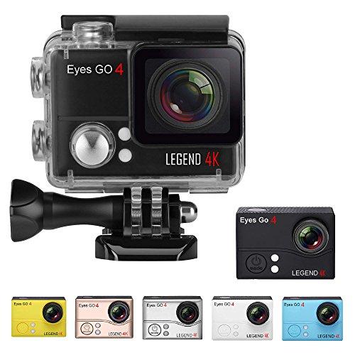 Eyes GO 4 LEGEND 4K - 20MP - Marchio francese - + 32 accessori inclusi con 7 tavole a colori consegnati - Ultra Alta Definizione 2160p - macchina fotografica di sport - Custodia impermeabile 45 m - Schermo LCD 2 pollici