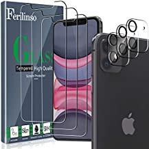 Ferilinso Screen Protector for iPhone 11 with 3 Pack Camera Lens Protector, 3 Pack Tempered Glass Film for iPhone 11 6.1 Inch