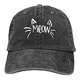 Gorra de béisbol para hombre y mujer Trucker Sombreros Denim Snapback Cat Meow ajustable seis paneles Casquette para...