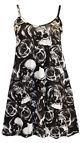 FashionMark Womens Skull Face Sheering Maxi