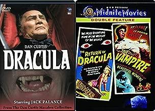 Vampire tale Macabre Dracula Dan Curtis + The Vampire & Return of Dracula DVD Midnite Movies Horror 3 Features