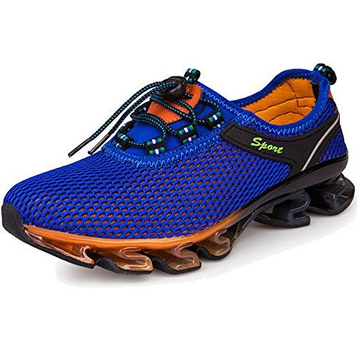 LiliChan Herren Wasser Schuhe Schnell trocknend Leicht Breathable Springblade Mesh Running Athletic Schuhe,K?nigsblau,39
