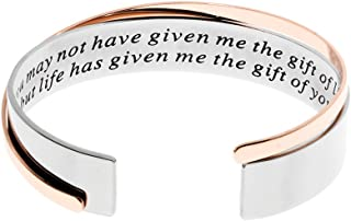 Ms. Clover Stepmother Gift, You May Not Have Given Me The Gift of Life, But Life Has Given Me The Gift of You Mother Bracelets, Wedding Present for Bonus Mom Jewelry