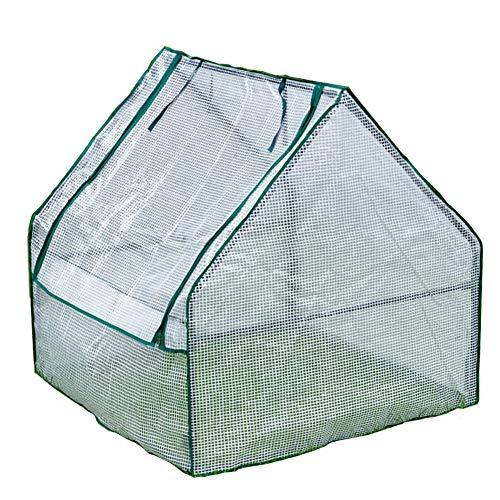 WXQIANG Serre de jardin blanche avec couvercle en polyéthylène et portes zippées, protection contre la pluie, le froid et la prévention des insectes, 240×90×90cm