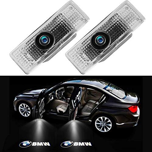 GUOSHUFANG Proyector de Logotipos Coche, 2 Piezas Auto Puerta Led Logo Universal Inalámbrico, Luces de Bienvenida para Todos Los Modelos BMW