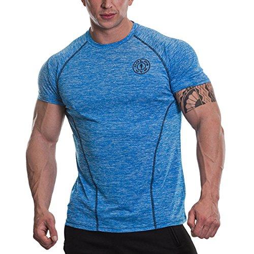 Gold's Gym Raglan Performance T-Shirt-Blue-Large