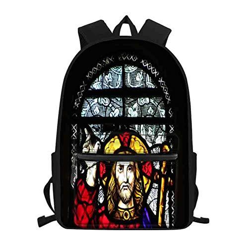 Schultasche für Kinder Rucksäcke 27D Kirchenfenster Pattern,Kinder Schultasche Kindergartentasche