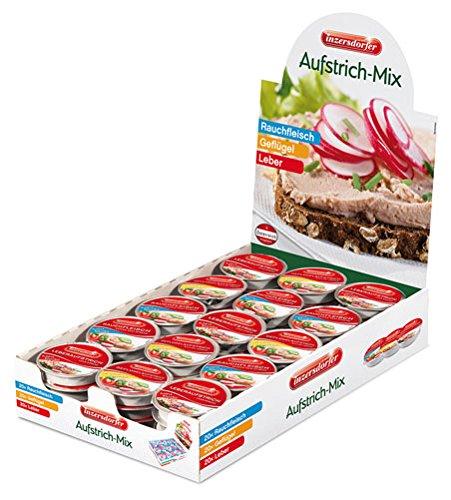 Inzersdorfer Aufstrich-Mix 60 Portionen à 25 g (20 x Leber, 20 x Kalbsleber,10 x Geflügel,10 x...