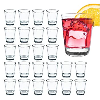 1.5 Ounce Shot Glass Set with Heavy Base 24 Pack Clear Shot Glass