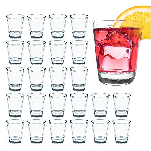 1.5 Ounce Shot Glass Set with Heavy Base, 24 Pack Clear Shot Glass