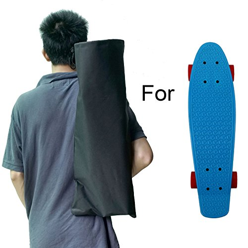 Cooplay Kleiner Penny Banana Skateboard-Rucksack, Mini-Tragetasche, 55,9 cm, 68,6 cm, 600D Nylon, Longboard-Handtaschengurte (55,9 cm)