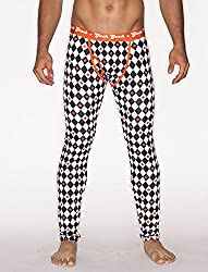 printed thermal pants for men