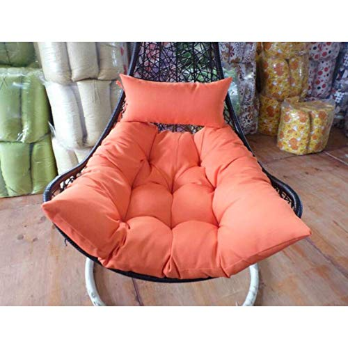 GYWY Hanging Egg Hammock Chair Cushion with Pillow, Thick Swing Seat Cushion Hanging Basket Anti-Slip Chair Pad, Removable Washable No Chair,G