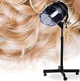Secador de pelo sobre pie altura ajustable 115-135 cm, motor 950 W, temperatura ajustable 20-70 °C, circuito de tiempo 0 a 60 minutos, herramienta profesional para cuidado capilar.