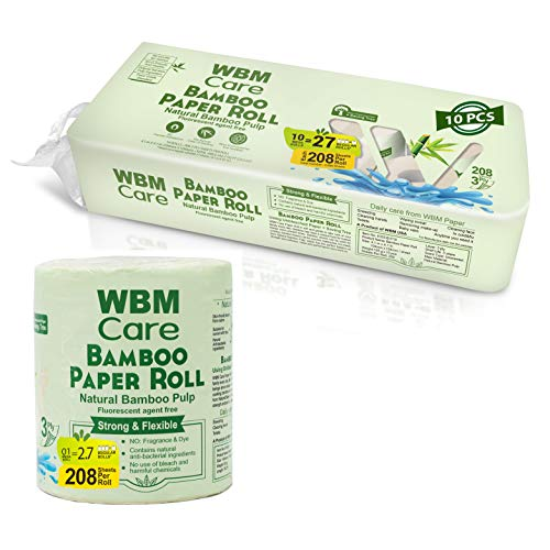 WBM Care Natural Bamboo Toilet Paper Unbleached|Hypoallergenic for Sensitive Skin