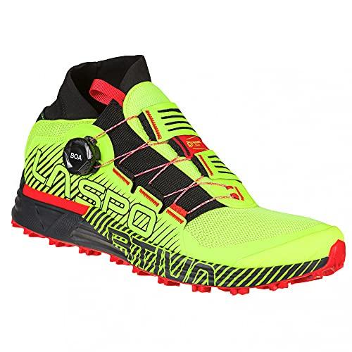 LA SPORTIVA Cyklon, Zapatillas de Trail Running Hombre, Neon/Goji, 40 EU
