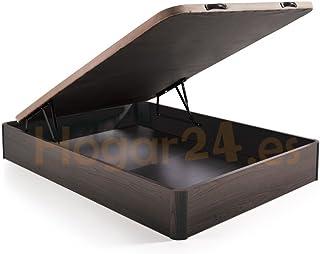 comprar comparacion HOGAR 24 Canapé Abatible Madera Gran Capacidad con Tapa 3D y Válvulas de Transpiración, con Esquineras en Madera Maciza, C...