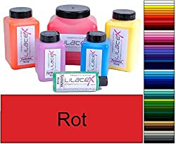 Lilatex 1 liter colored viscous liquid latex / color latex / latex milk - viscous natural latex (red)