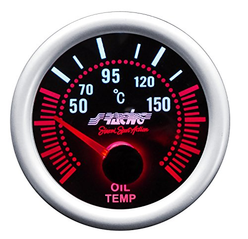 Simoni Racing OT/A Indicador Eléctrico de Temperatura Aceite, fondo negro