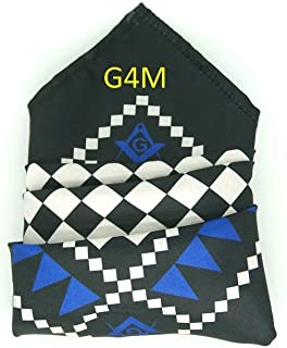 Masonic Handkerchief Craft Pocket Square with Square & Compass and G SC&G