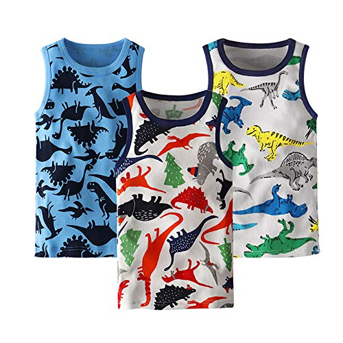 benetia Toddler Boys Tank Tops Soft Cotton 3 -Pack Size 3t 4t