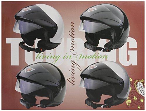 Bottari Motorradhelm Touring, Metal Silver, Größe XL