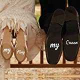 Atiehua 2 Unids/Set My King My Queen Calcomanías De Arte Divertido Novia Novio Arte Pegatinas Regalos Para Accesorios De Boda Zapatos Decoración