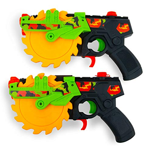 Boley Chainsaw Water Blasters - 2 Pack Large Squirt Gun Water Guns for Kids - Water Gun Pool and Bath Toys for Boys and Girls Ages 3 and up
